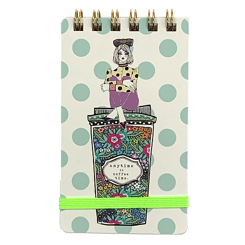VERRIER HANDCRADATED MINI NOTEBOOK/ANYTIME IS COFFEE TIME