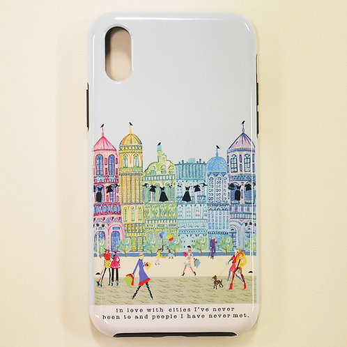 VERRIER HANDCRADATED  IPHONE CASE X/XS /IN LOVE WITH CITIES I'VE NEVER BEEN TO A