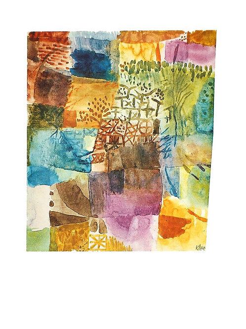 ERINNERUNG AN EINEN GARTEN / Paul Klee
