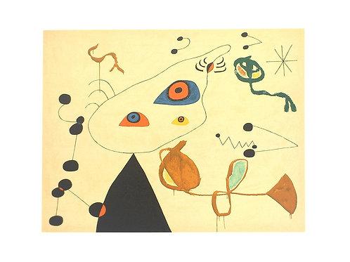 Woman and Bird in the Night / Joan Miró