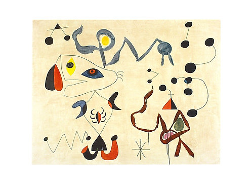 Woman and Bird in the Night / Joan Miró