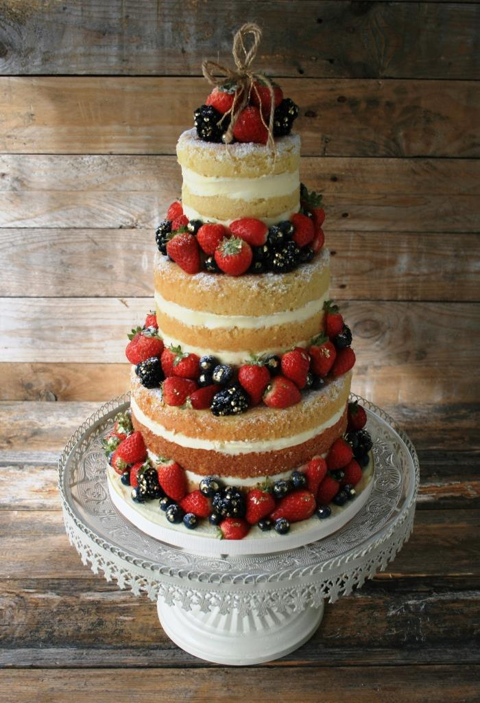 Naked Wedding Cake 1