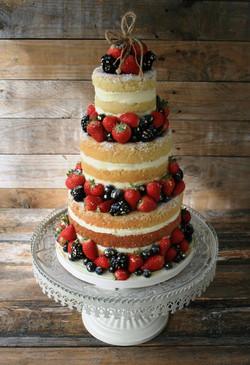 Naked Wedding Cake 1