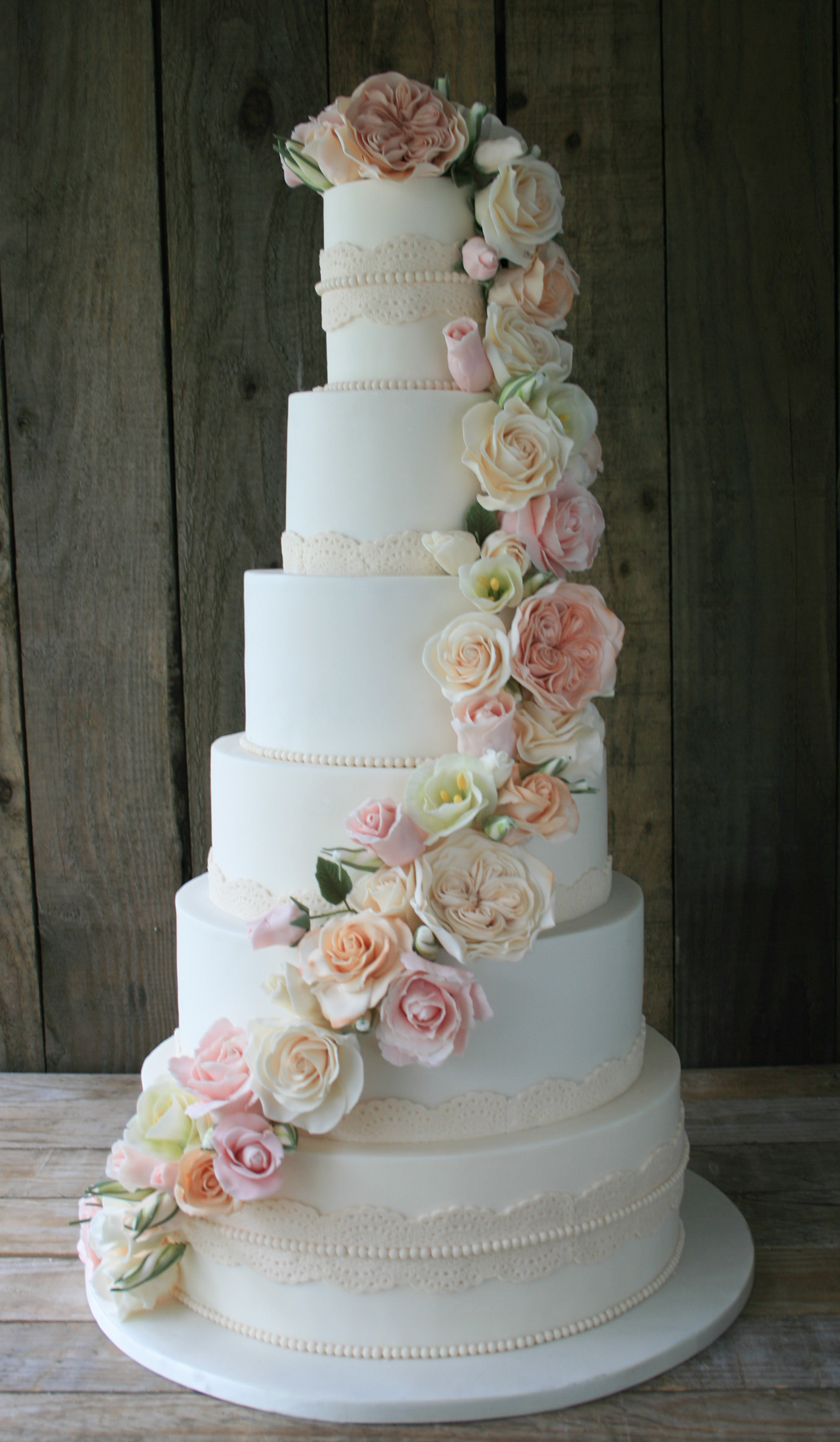 Pastel Blush Wedding Cake