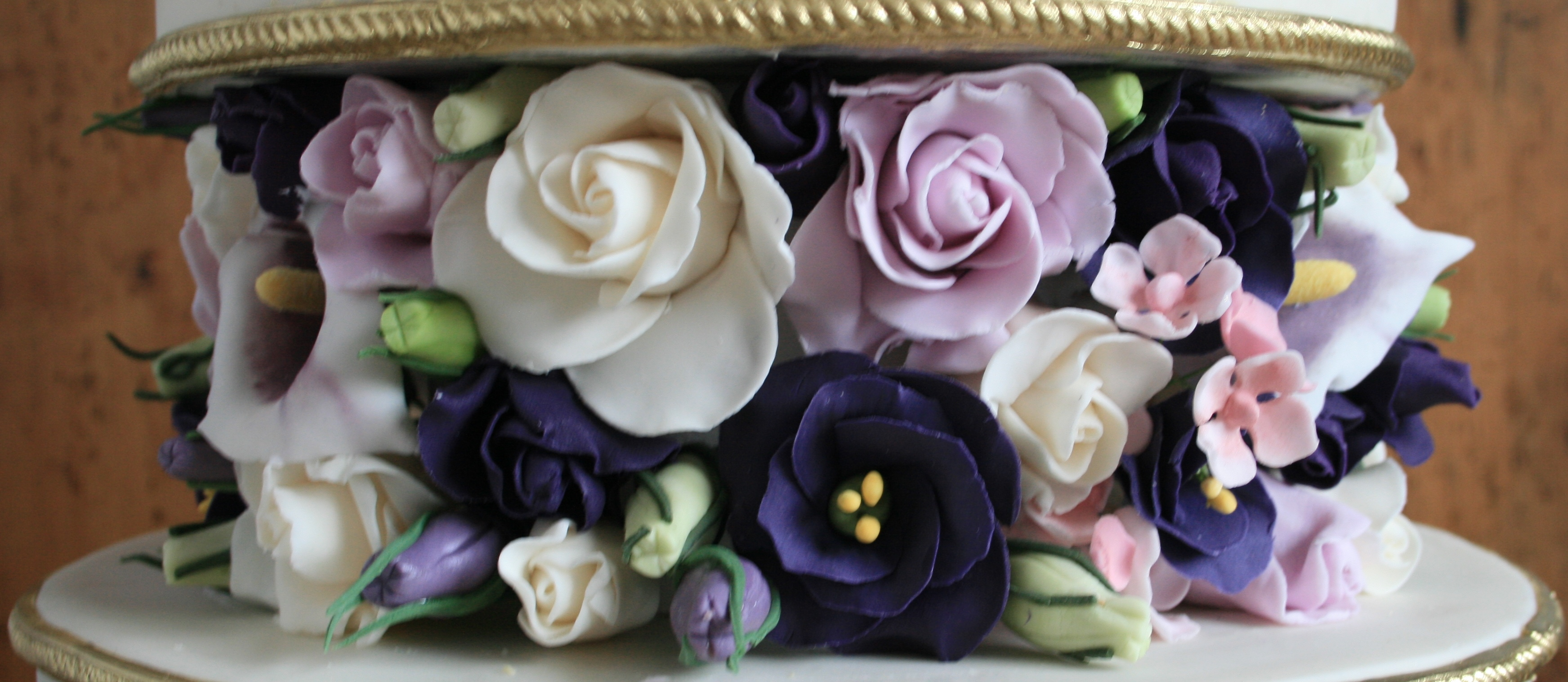 Purple French Rose detail