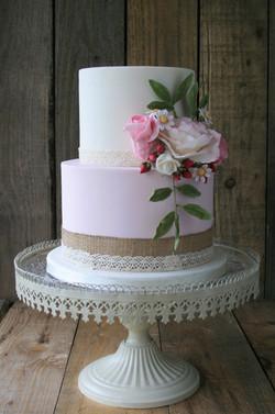 Wild Rose Wedding Cake