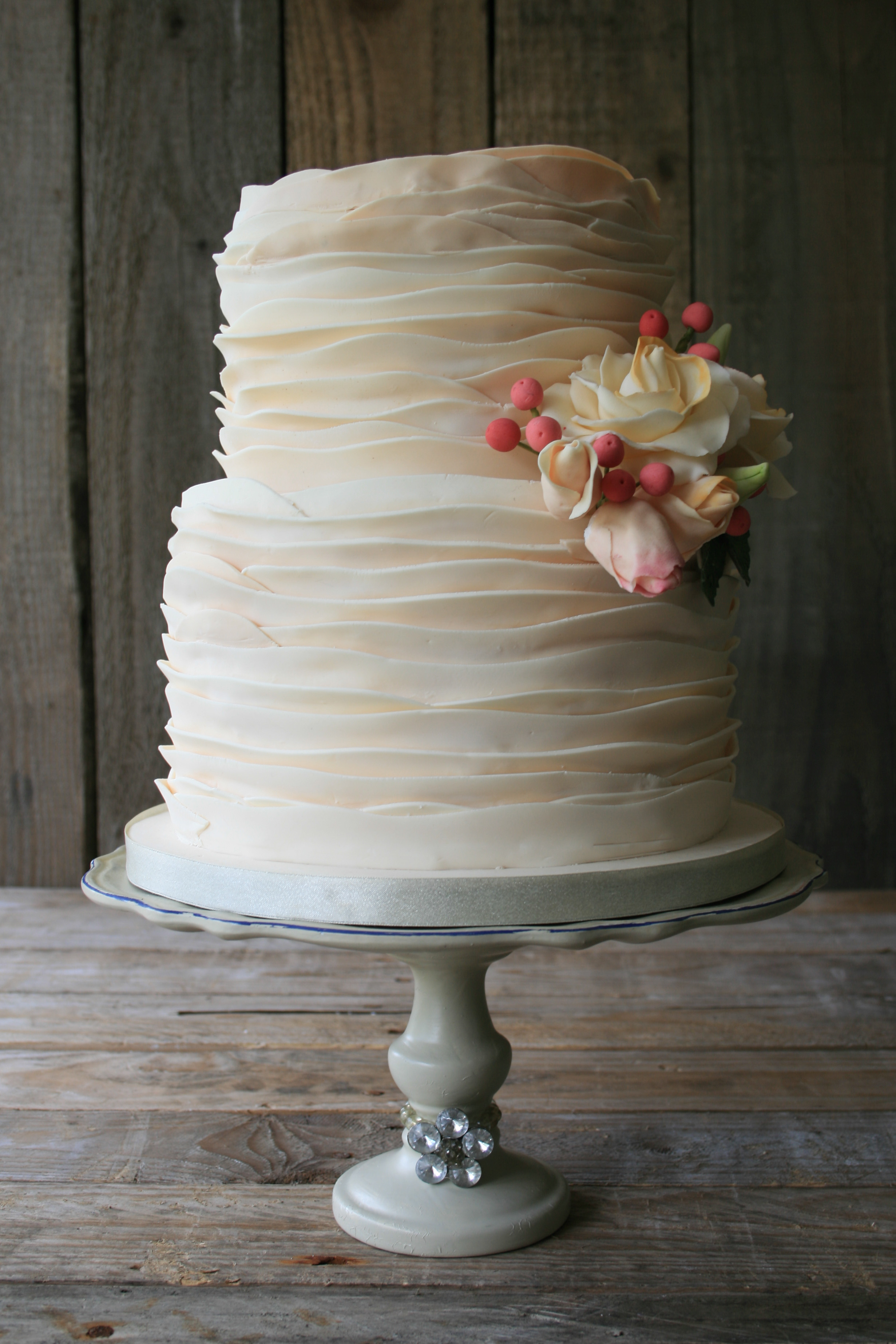 Iced Ribbon Wedding Cake
