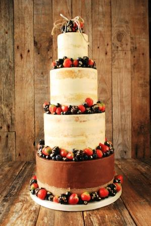 Semi Naked Wedding Cake LR