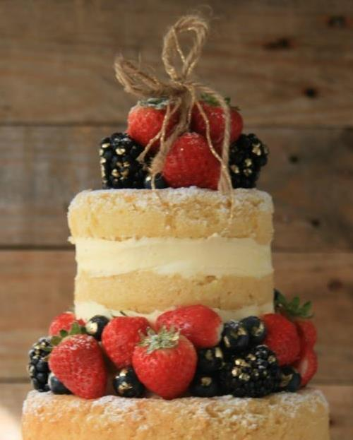 Naked Wedding Cake det 3