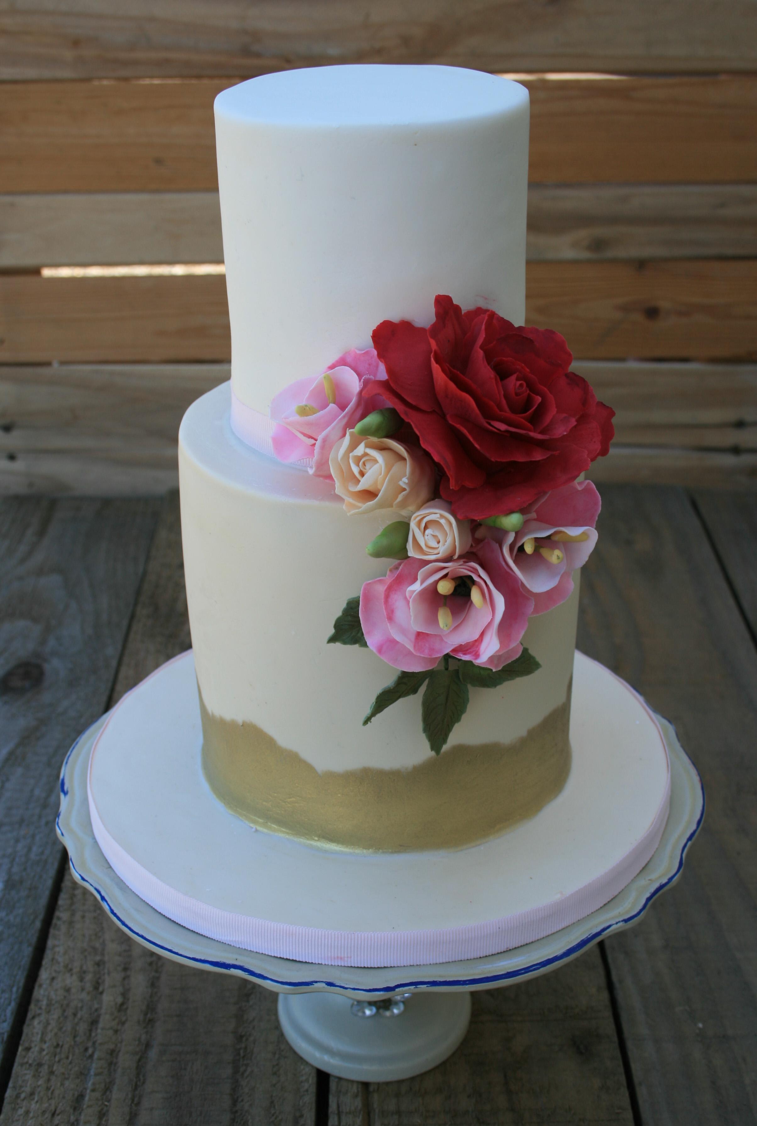 Petite Fleur Wedding Cake
