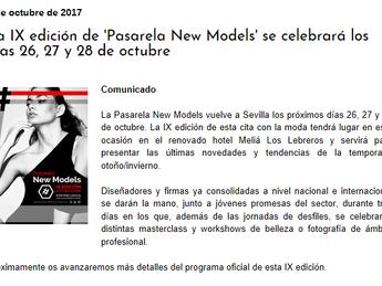 """Evento """"Pasarela Newmodels 2017"""" en las noticias."""
