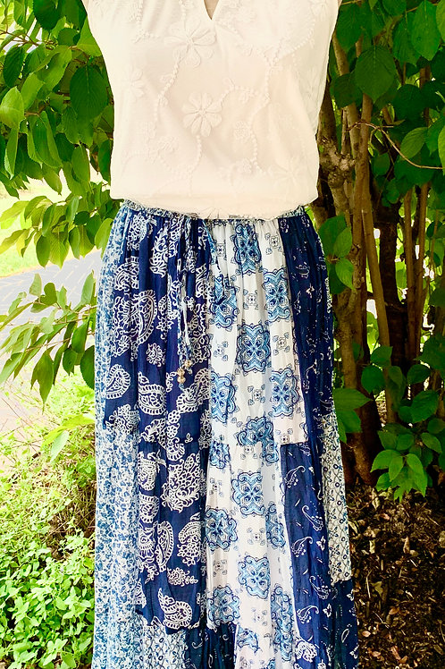 Printed Cotton Voile Skirt
