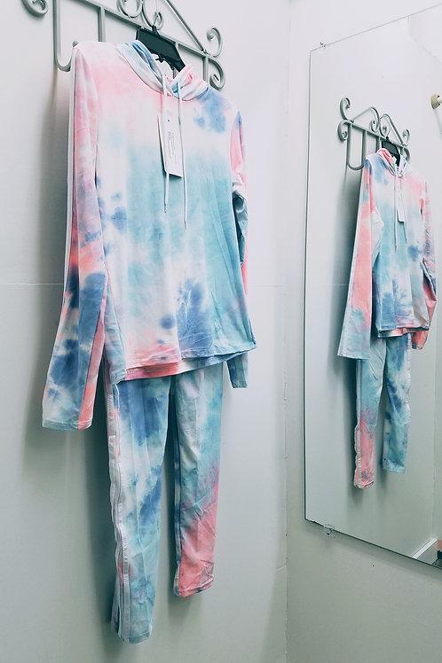 Tie-Dye Hoodie Sweat Pants Set