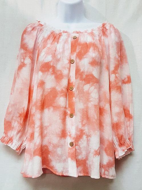 Tie Dye Print Blouse