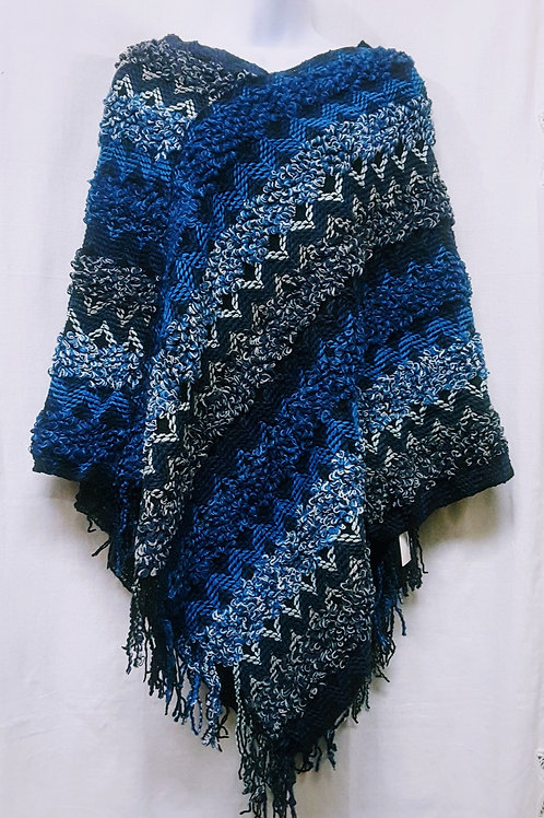 Dramatic Patterned Poncho