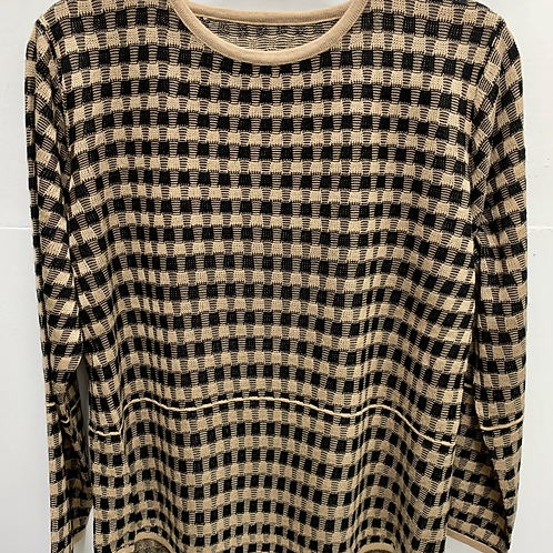 Checkered Knitted Sweater
