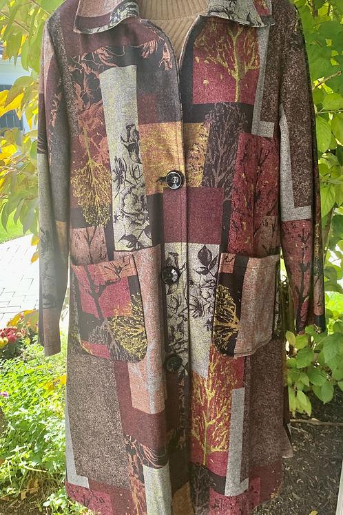 Scenery Patch-Pattern Jacket