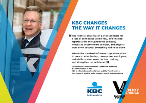 Vlerick Business School - Enjoy change poster campaign