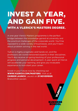 Vlerick Business School - career launch advert