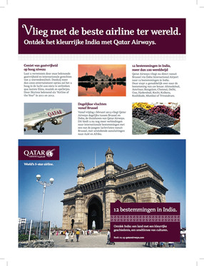 Qatar Airways advertising material