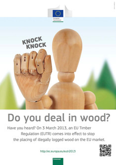 EU Timber regulation poster - part of a