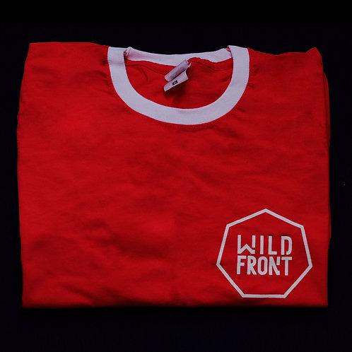Wild Front Retro Ringer Tee // Red