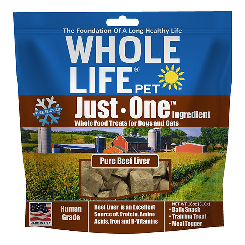 Just One Ingredient Beef Liver Value Pack for Dogs & Cats, 18oz