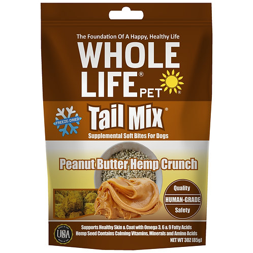 Tail Mix Peanut Butter Hemp Crunch Supplemental Soft Bites for Dogs, 3oz