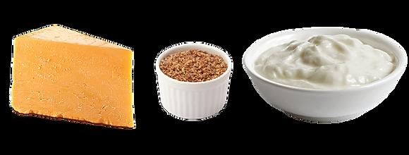 Real Cheddar Cheese, Ground Flax Seed & Plain Greek Yogurt
