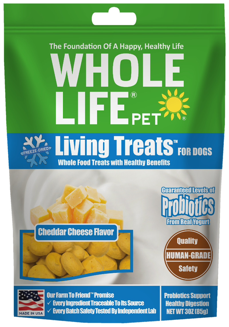 Living Treats Probiotics Cheddar Cheese Flavor for Dogs