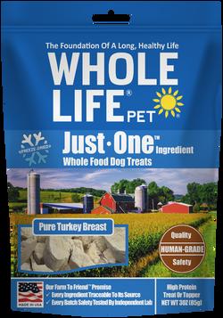 Whole Life Pet Just One Ingredient Turkey Dog Treats