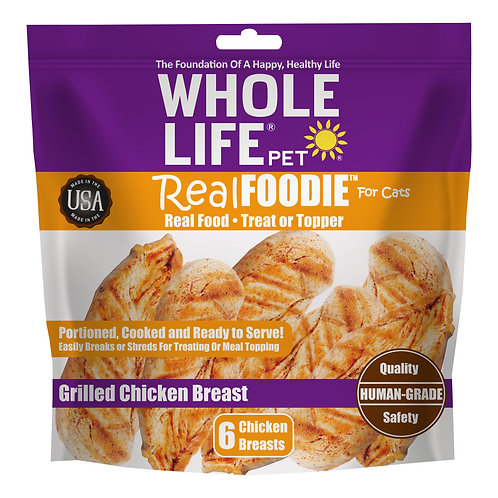 realFoodie Whole Chicken Breast for Cats, 6 Count