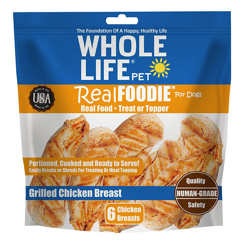 realFoodie Whole Chicken Breast for Dogs, 6 Count