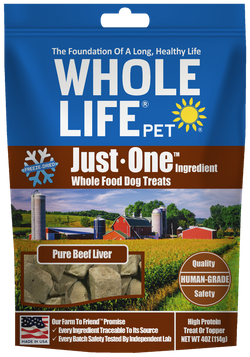 Whole Life Pet Just One Ingredient Beef Liver Dog Treats