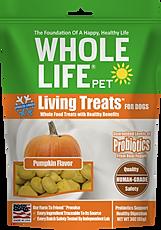 Living Treats Probiotics Pumpkin Flavor for Dogs