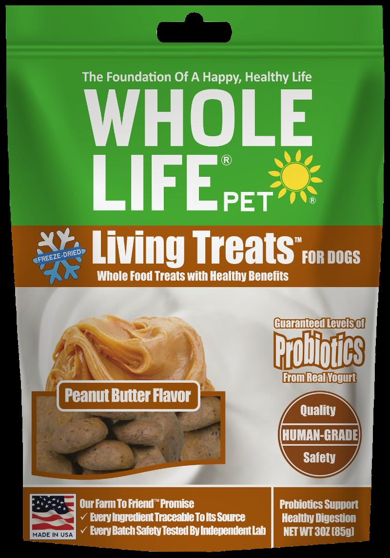 Living Treats Probiotics Peanut Butter Flavor for Dogs