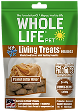 Living Treats Probiotics Peanut Butter Flavor for Dogs