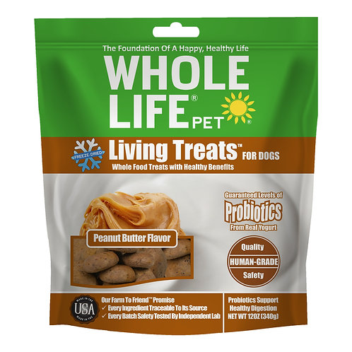 Living Treats Probiotics Peanut Butter Flavor Value Pack for Dogs, 12oz