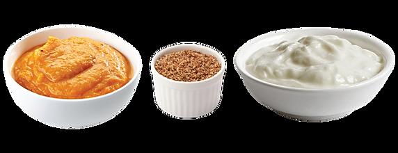 Pumpkin Puree, Ground Flax Seed & Plain Greek Yogurt