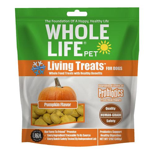 Living Treats Probiotics Pumpkin Flavor Value Pack for Dogs, 12oz