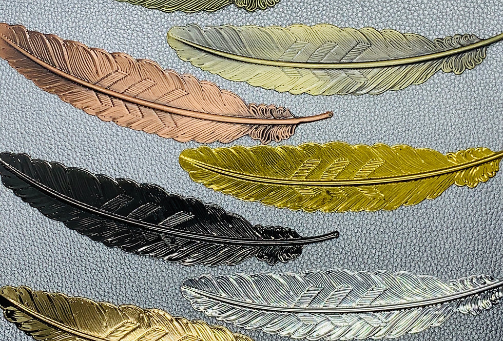 Feather Metal Bookmarks