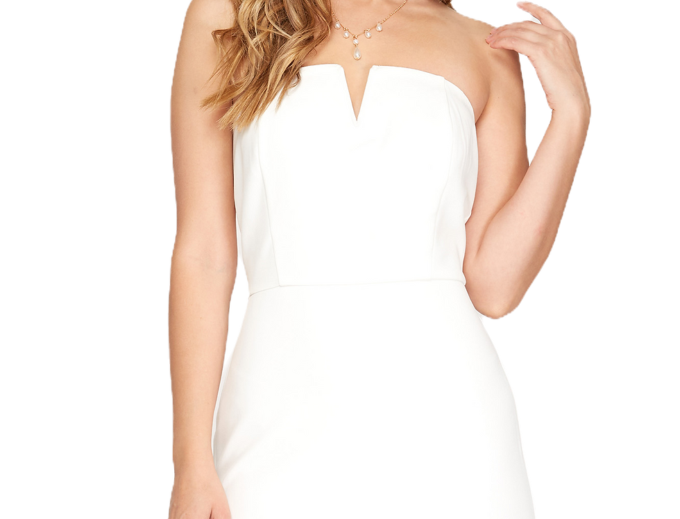 Strapless White Dress
