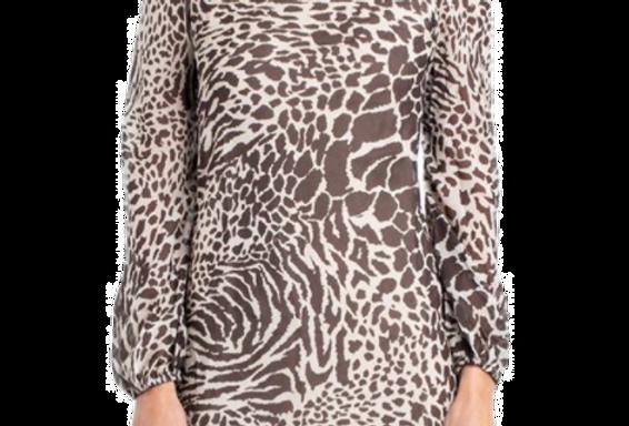 Tiger print mini dress