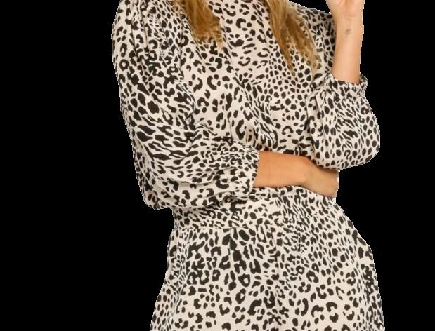 Satin Leopard Romper