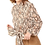 Thumbnail: Snake Print Long Sleeve Blouse With Front Tie