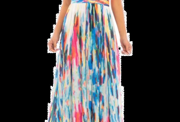 Rainbow Water Maxi Dress