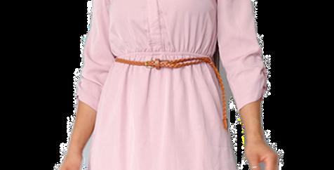 Stylish belted mini dress
