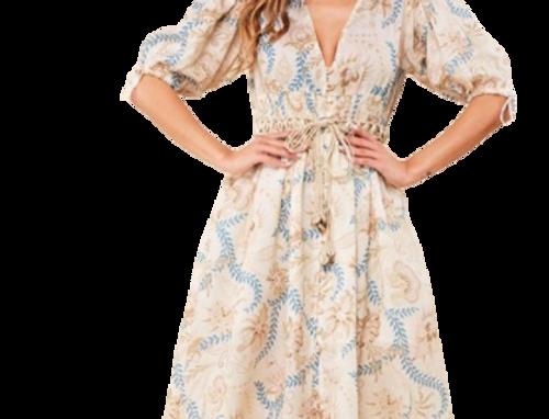 Botanical midi dress