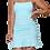 Thumbnail: Spaghetti strap square neck ruffled wrap dress