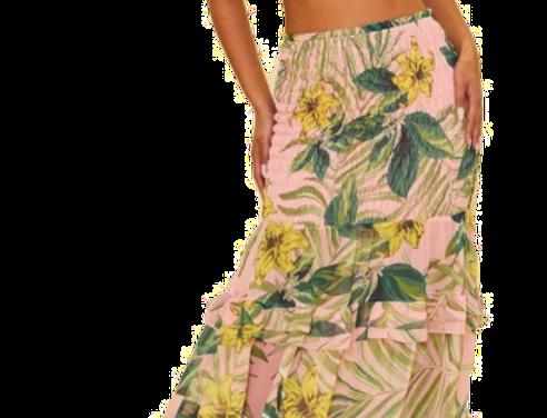 Flower Rain Maxi Dress
